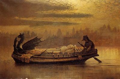 Il quadro deidcato ad Elaine di Astalot dipinto da John Atkinson Grimshaw