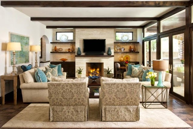 Fiorito interior design catch your balance symmetry vs for Family room v living room