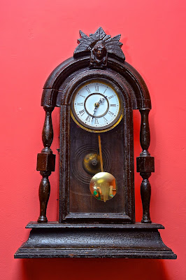reloj, pared, péndulo,
