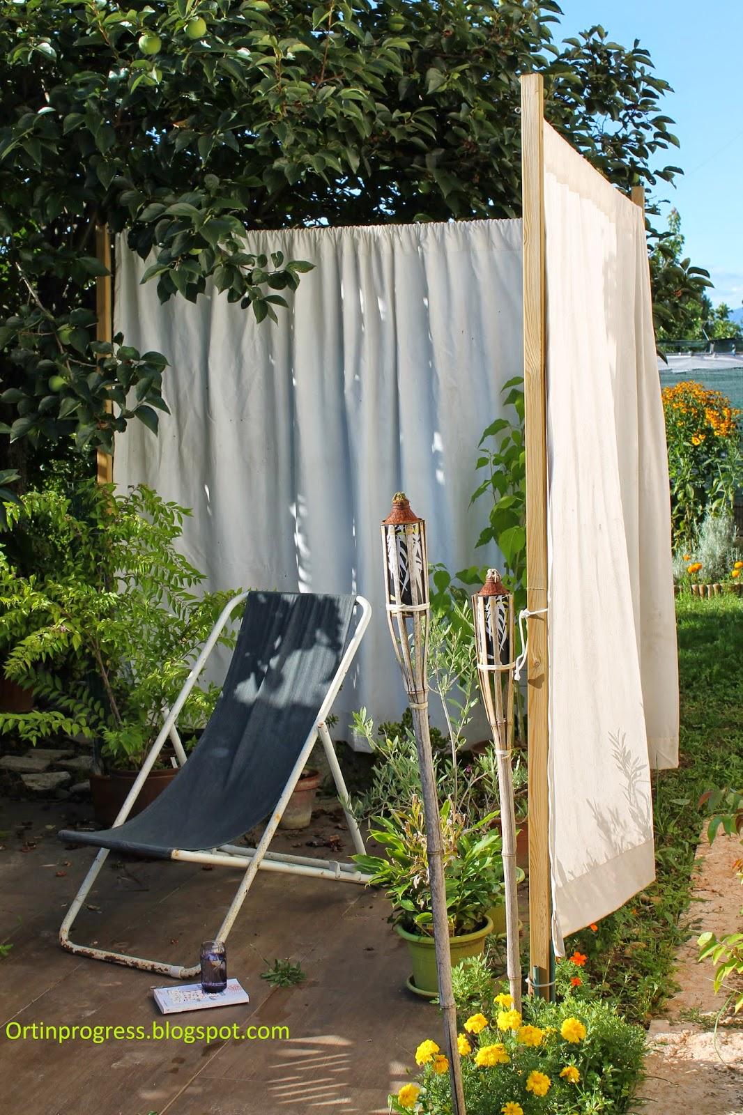 Orti in progress: classe in giardino con poca spesa: le cortine ...