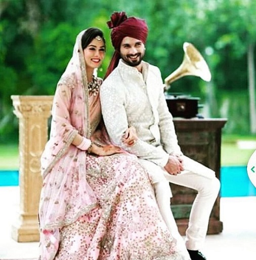 Mira rajput of wedding
