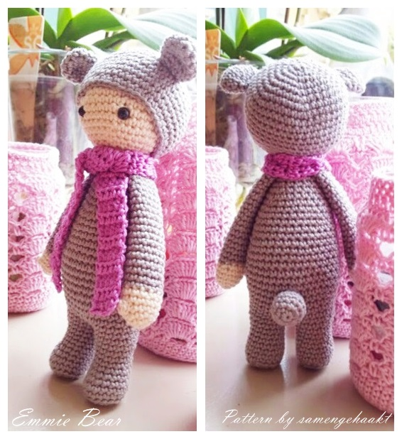 Amigurumi Patterns Blog : Amigurumi Bear Emmie (Lalylala)-Free Pattern Amigurumi ...