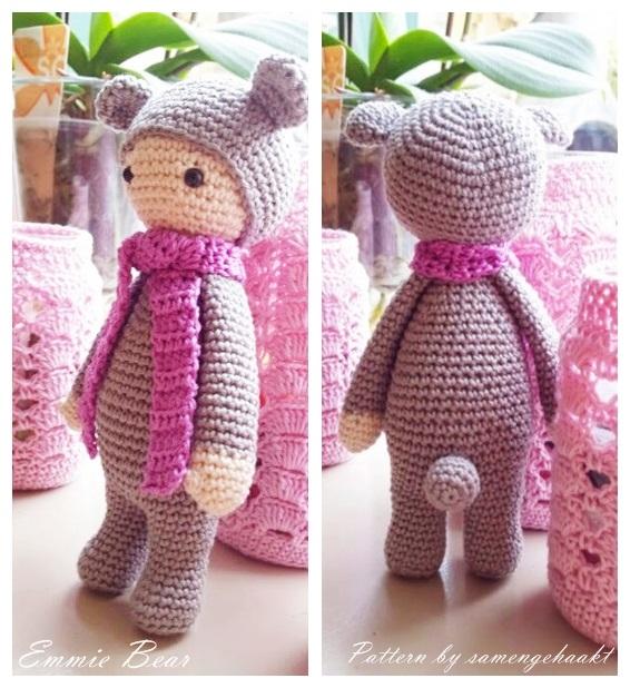 Tiny Amigurumi Bear Pattern : Amigurumi Ay? Emmie Yap?l???-Amigurumi Emmie Bear Free ...