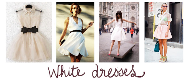 white dresses, summer inspiration