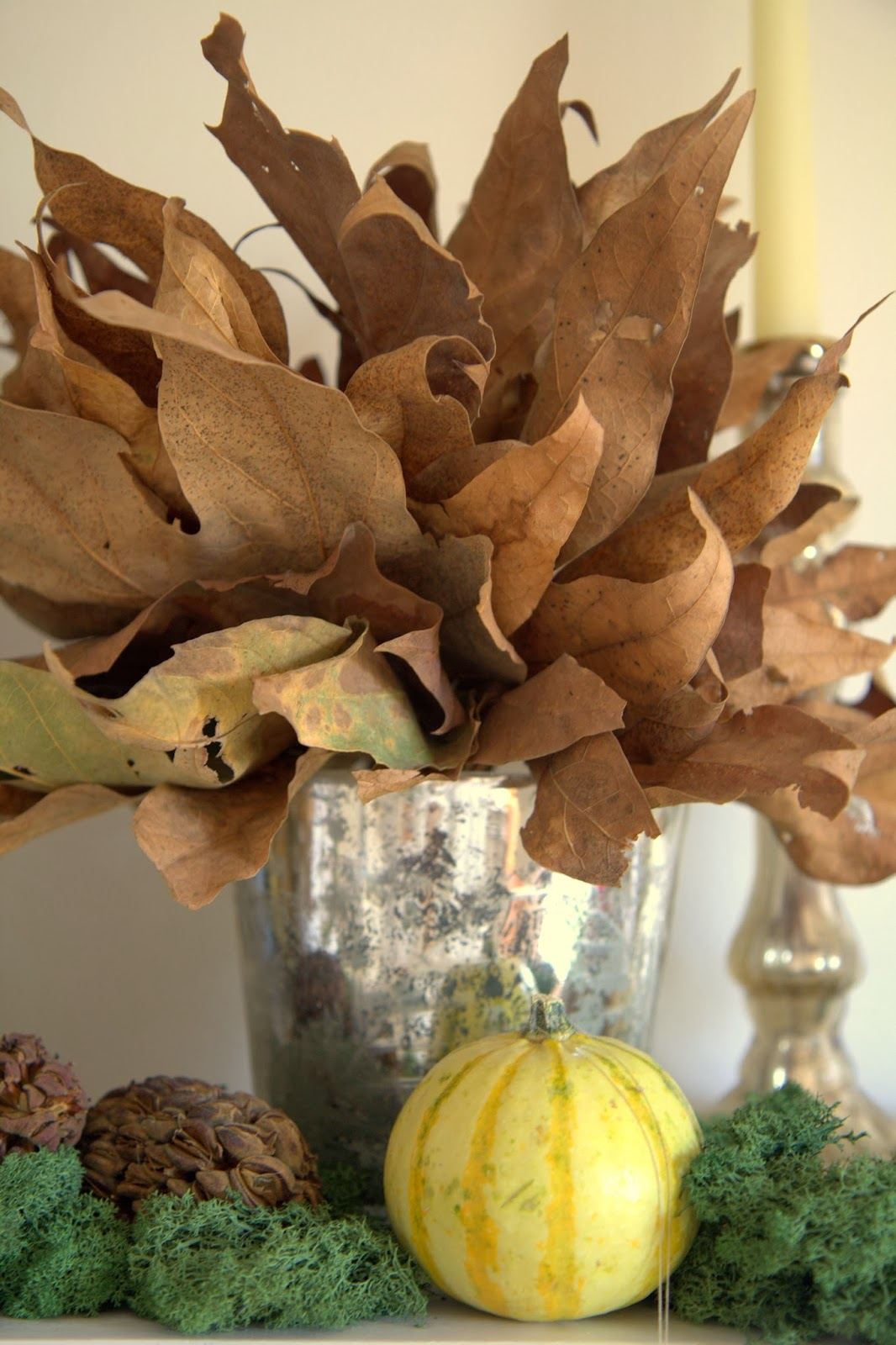 Leaf Bouquet and Pumpkin