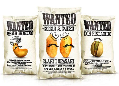 design de embalagem - food packaging design - Wanted Snacks