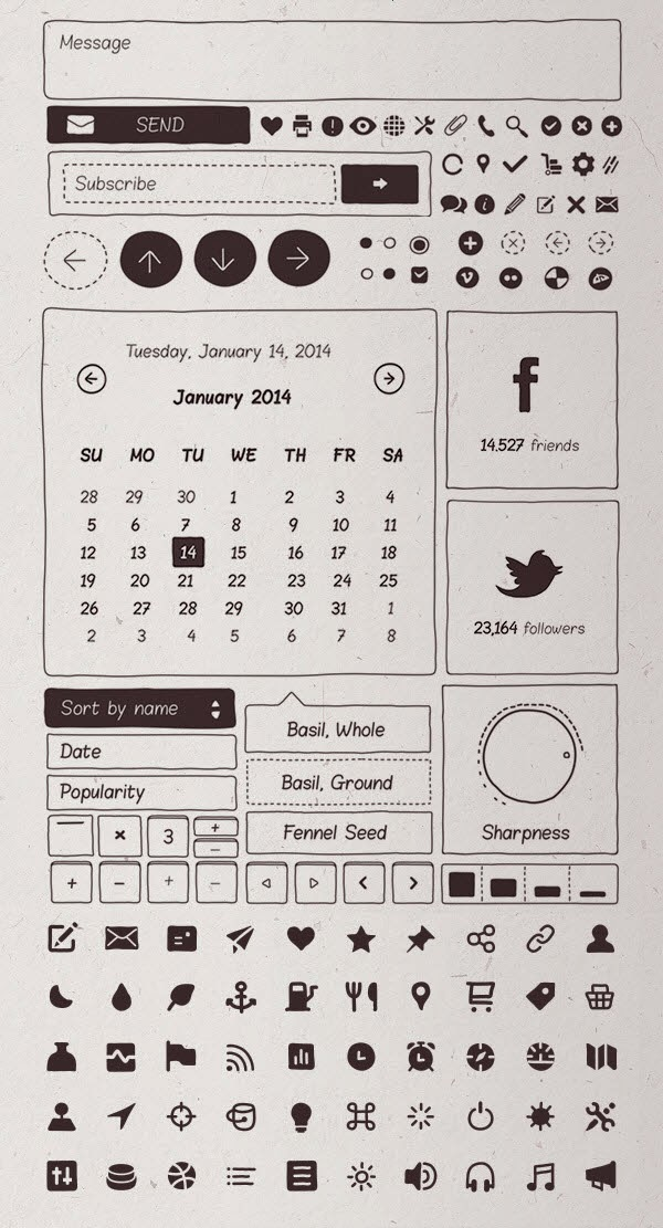 Basiliq - Freehand UI Kit
