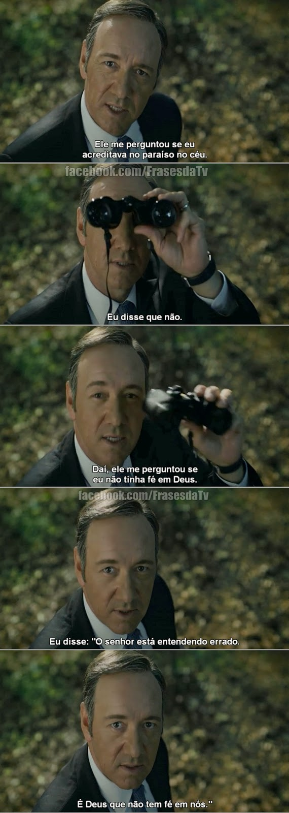 Frase de House of Cards - Frank Undewood