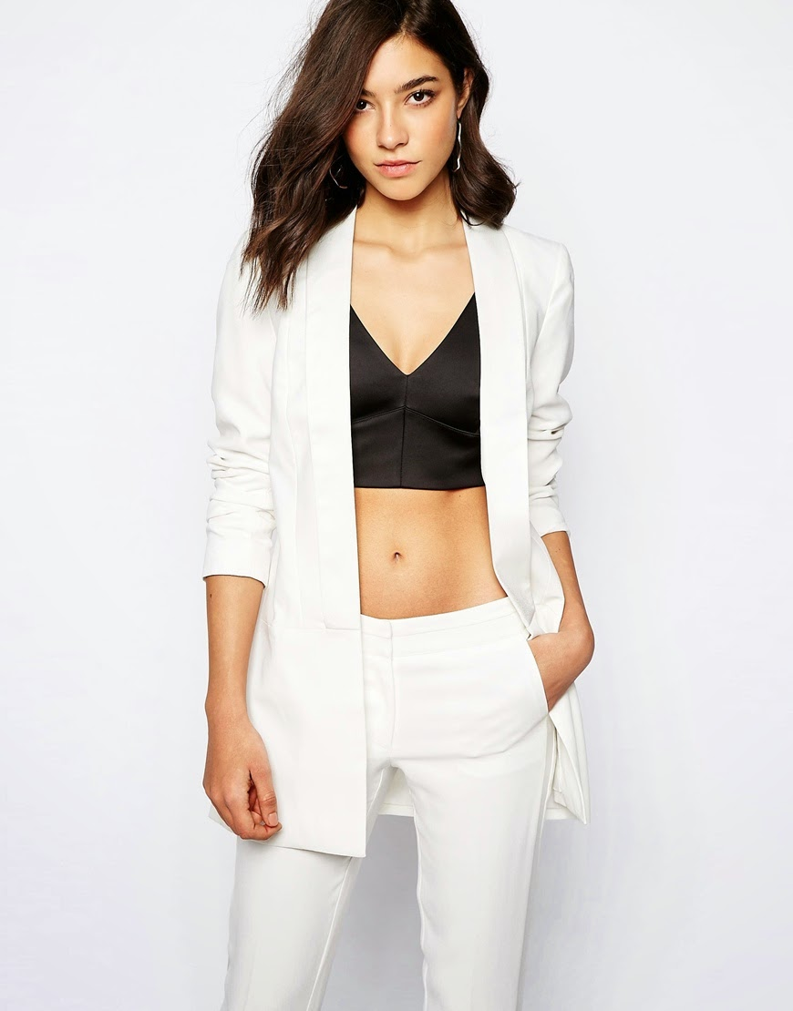 warehouse white blazer,