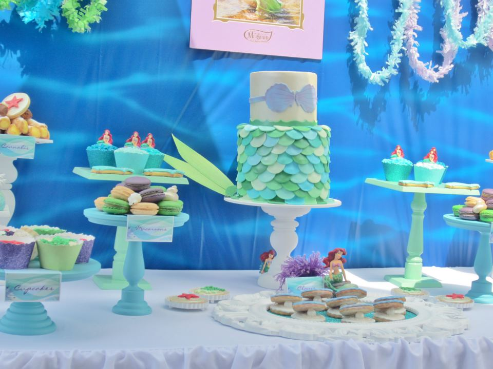 Little big company the blog a mermaid themed party by for Ariel decoration party