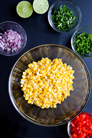 Roasted Sunshine Sweet Corn Salsa / blog.jchongstudio.com #sweetlife