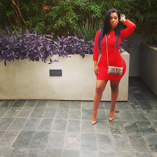 Photos: K Michelle Flaunts Her Figure in a Sexy Red Dress