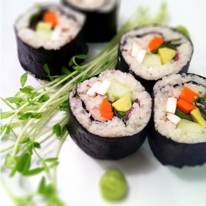 Vegetable Sushi Recipe — Dishmaps