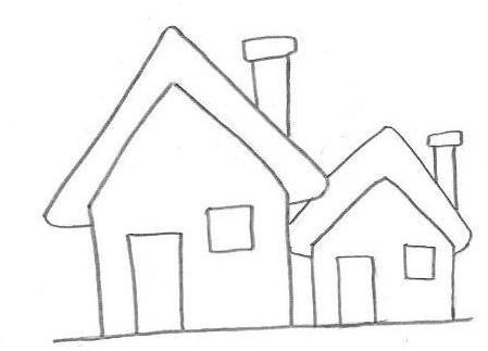 Desenhos Para Colorir Esbolso de casa linda