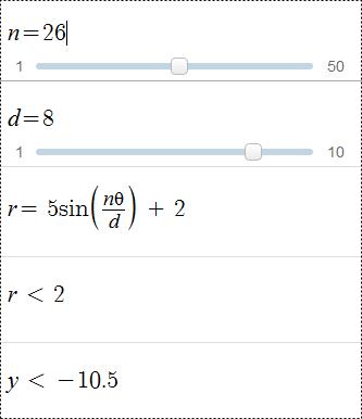 équation pour dessiner une fleur