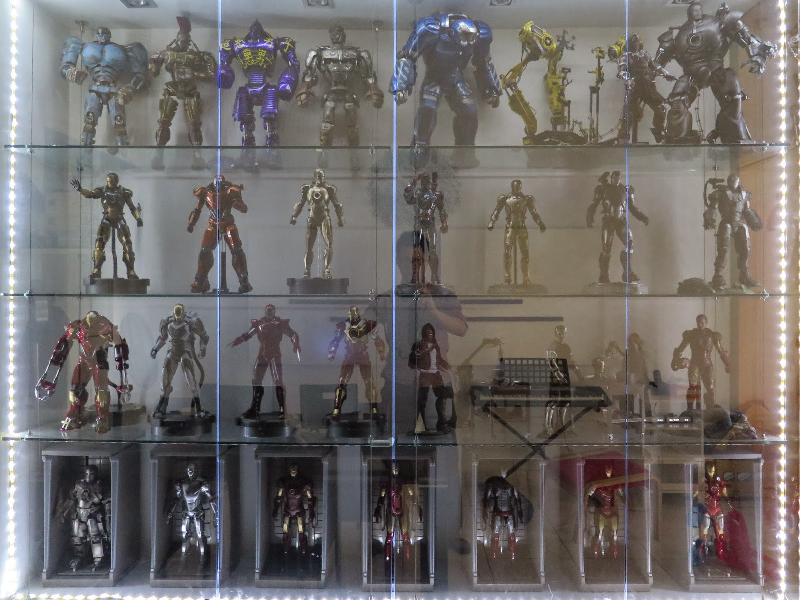 Update My Cabinet Display 2015, Mainly Hot Toys Iron Man Collection