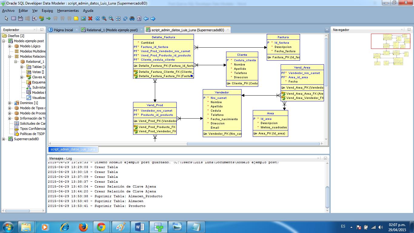 SQL Developer Data Modeler, y ejemplo de su uso ~ CódiGeek