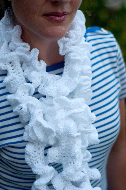 Aesthetic Nest Crochet Ruffled Summer Scarf Pattern