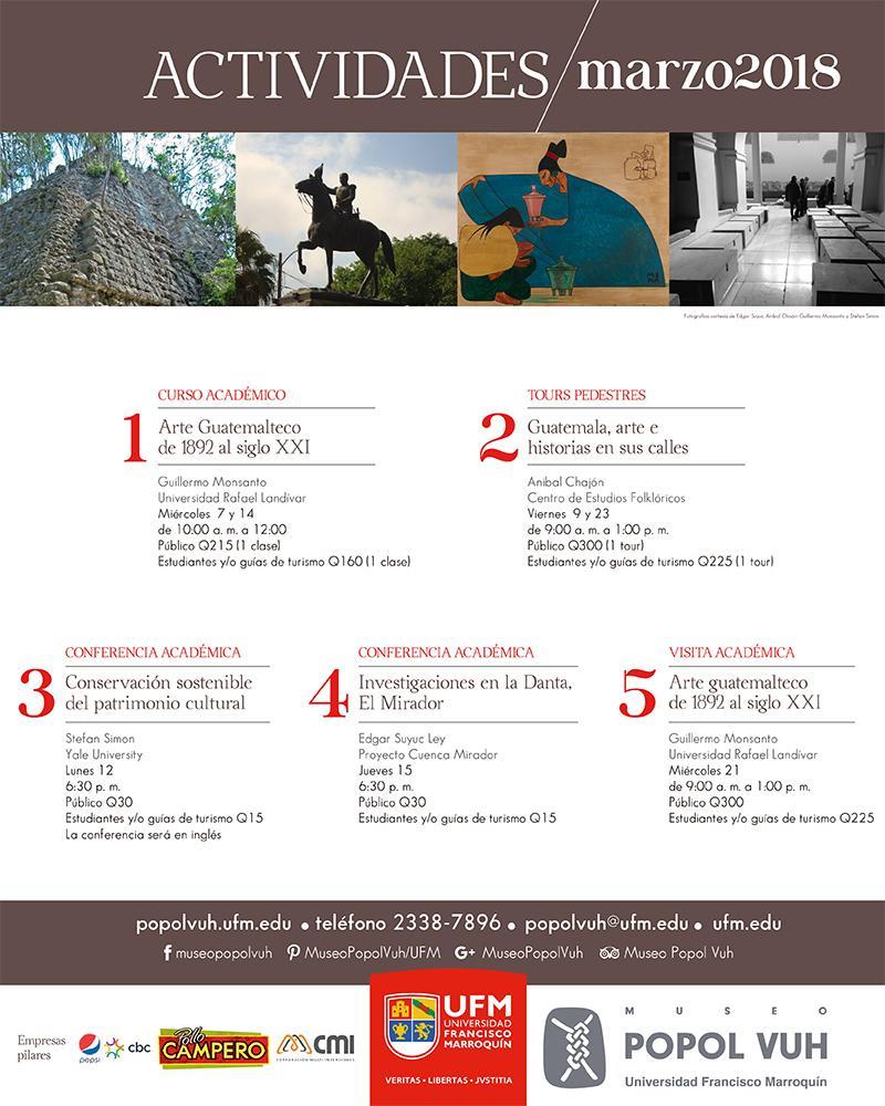 ACTIVIDADES DE MARZO DEL MUSEO POPOL VUH