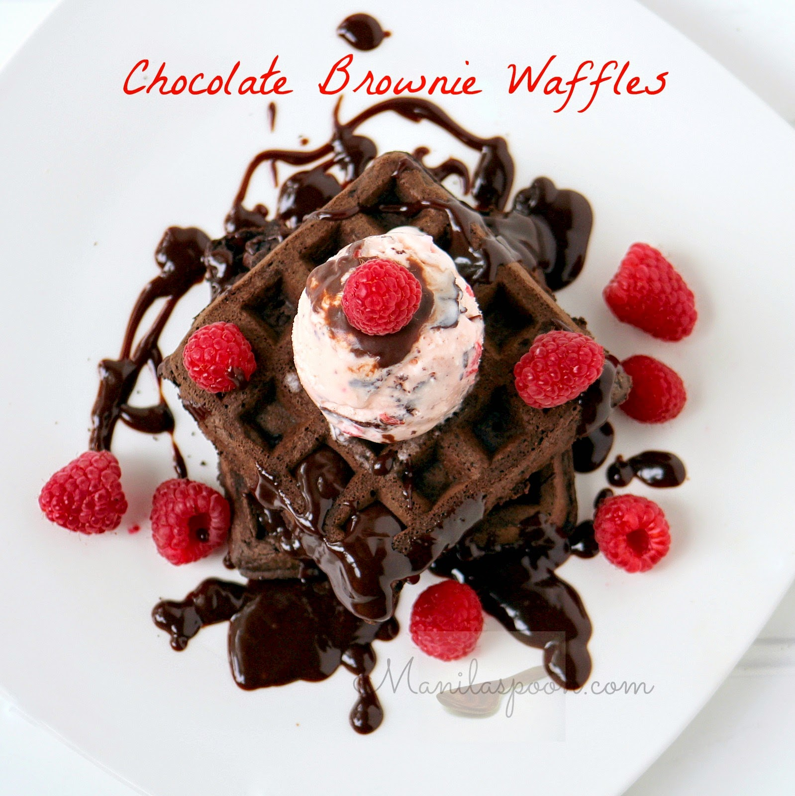 Here's the answer - CHOCOLATE BROWNIE WAFFLES. Fancy it as a dessert ...