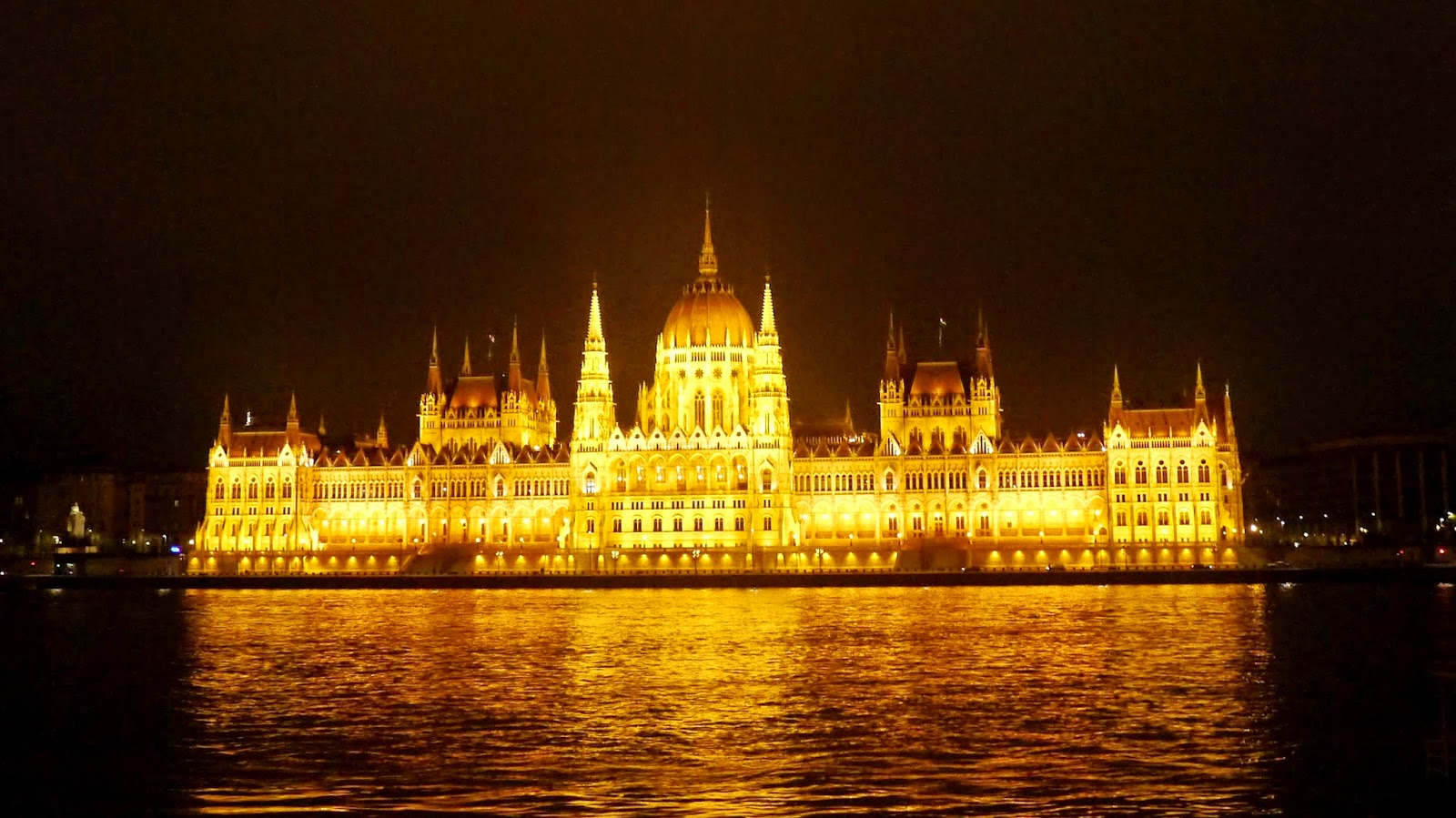 Budapest Hungarian Parliament building at night
