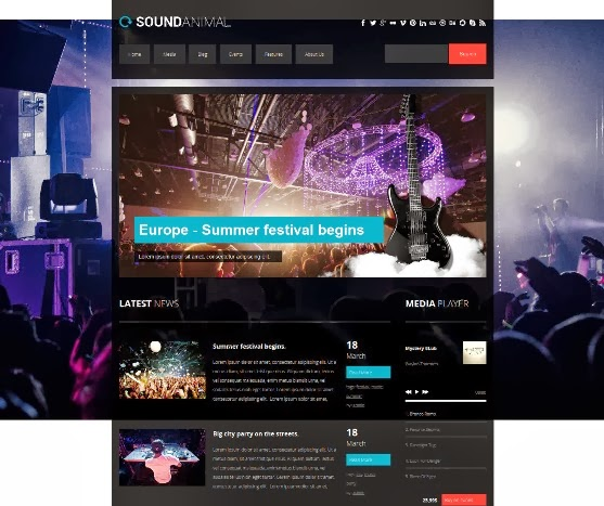 SOUNDANIMAL - Entertainment WordPress Theme