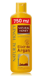 gel baño argán Natural Honey