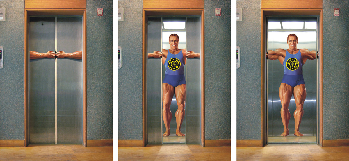 Gold's Gym Elevator Top 27 Creative Elevator Advertisements