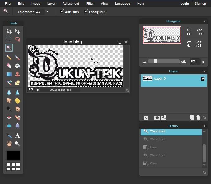 Cara membuat logo transparan tanpa software apapun | DukunTrik