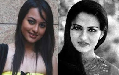 Young Reena Roy same look with Sonakshi Sinha