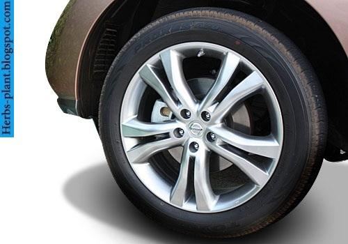 Nissan murano car 2013 tyres/wheels - صور اطارات سيارة نيسان مورانو 2013
