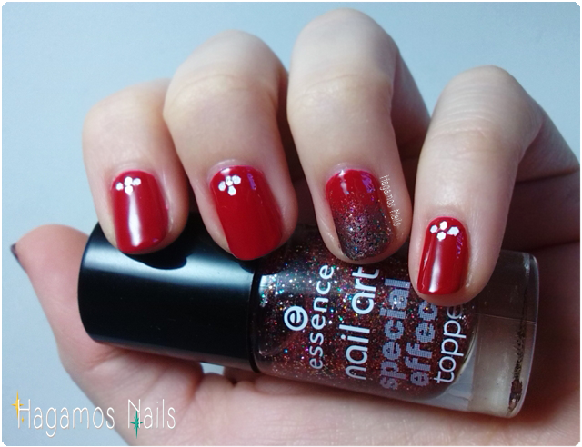 Manicura roja navideña. Hagamos Nails