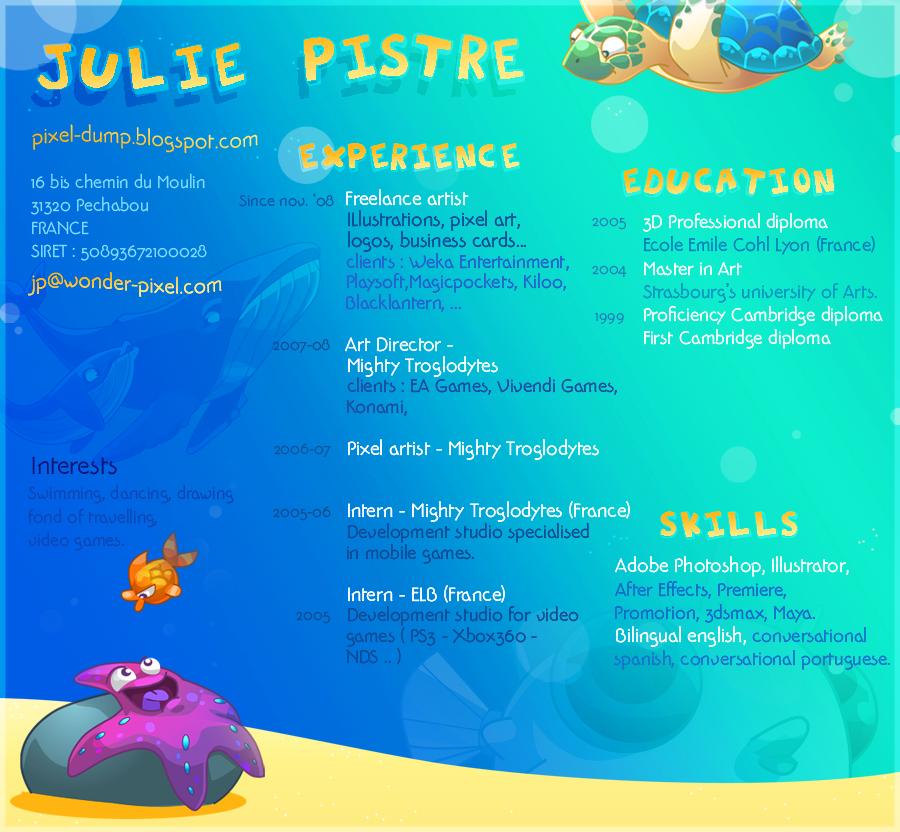 pixel dump  resume    cv