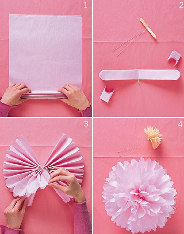 Gambar Cara Membuat Bunga Kertas