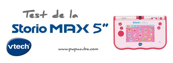 Papacube test et avis de la tablette tactile storio max 5 - Tablette pour enfant pas cher ...