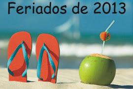 FERIADOS Y DÍAS NO LABORABLES - AÑO 2013