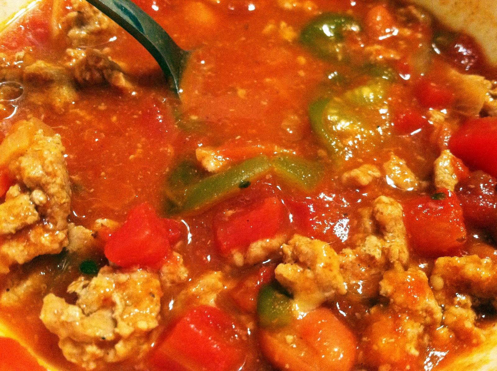 ButchInTheKitchen: Low Calorie Crock Pot Turkey Chili With Tomatillos