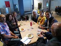 Group photo at Flat Rock Cellars