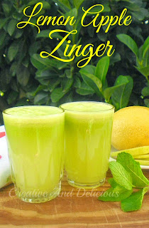 Lemon Apple Zinger ~ Refreshing and zesty Apple drink ! #NonAlcoholic #Drinks #AppleRecipe