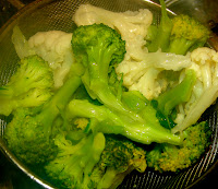 Chinese recipe: stir fried cauliflower and broccoli