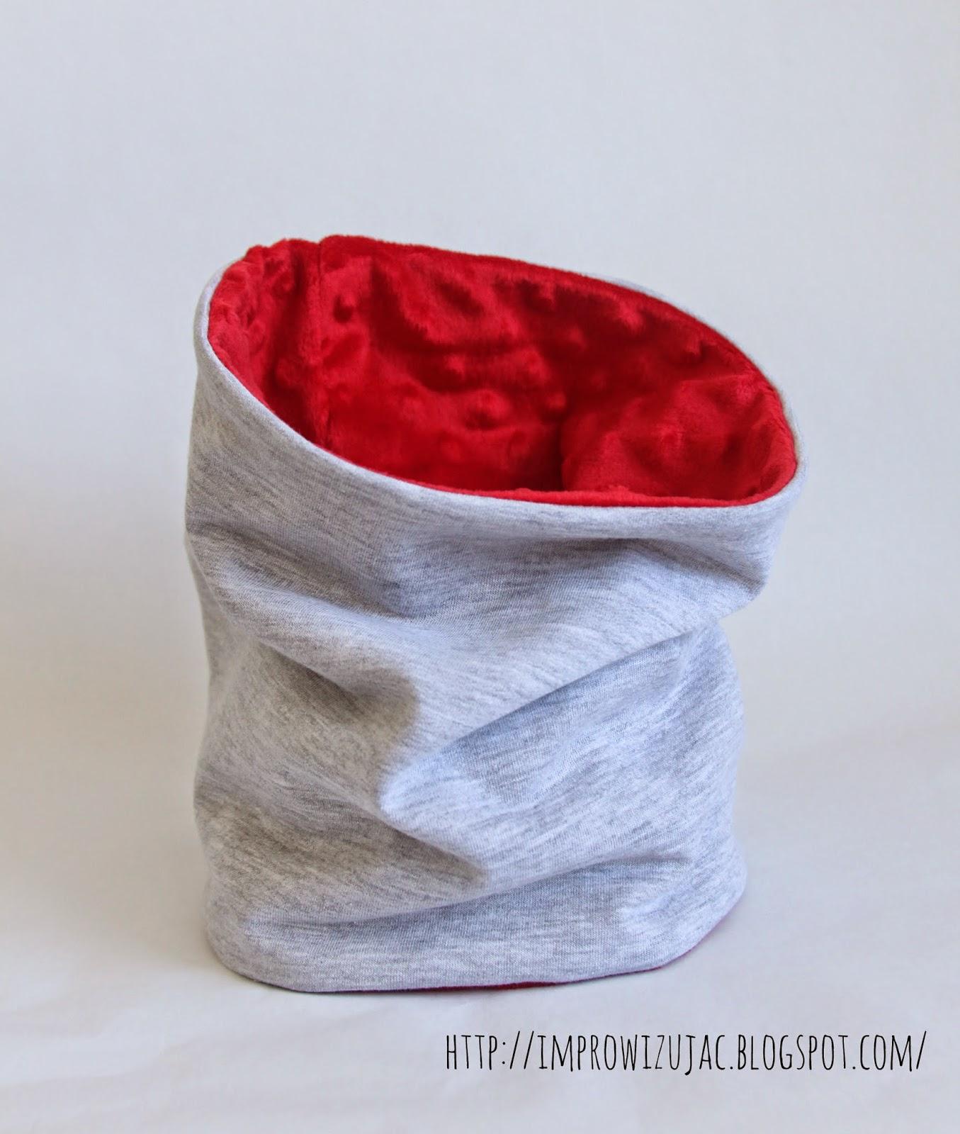 czapka minky i dres, zestaw czapka z kominem
