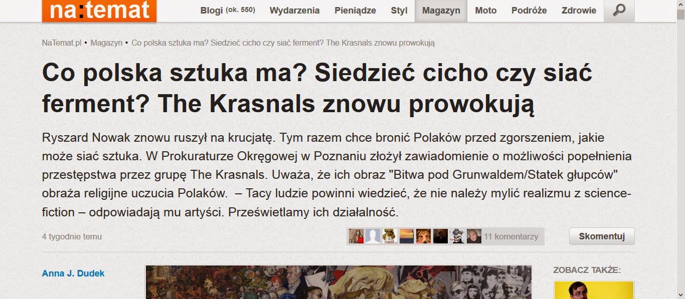 http://natemat.pl/97677,co-polska-sztuka-ma-siedziec-cicho-czy-siac-ferment-the-krasnals-znowu-prowokuja