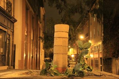 sculpture en terre_rue de la parcheminerie_rennes