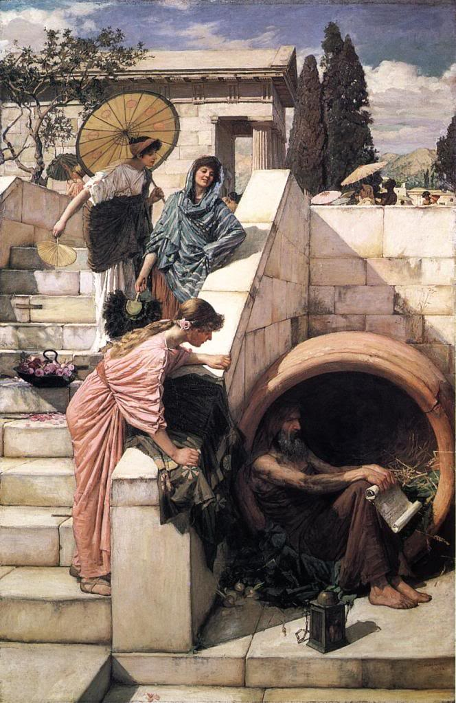 waterhouse diogenes painting