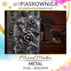 MIXED MEDIA - efekt metalu ale i metal, metalowe elementy