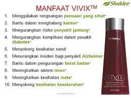 manfaat vivix shaklee