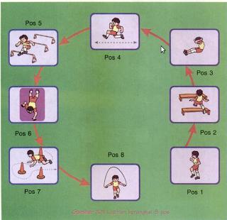 contoh latihan sirkuit untuk anak