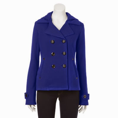 Sebby womens fleece peacoat