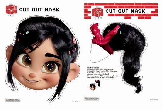 Máscara de Vanellope para Imprimir Gratis. | Ideas y material gratis