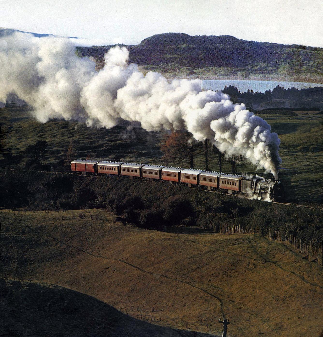 Transpress Nz: Steam Clouds Above Lake Rotorua